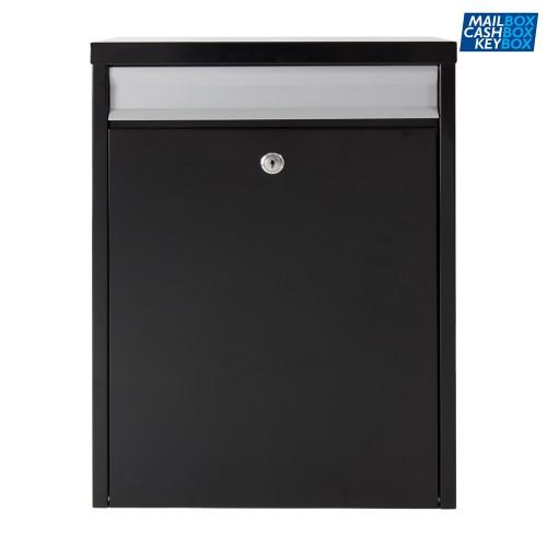 Mailbox zwart/aluminium